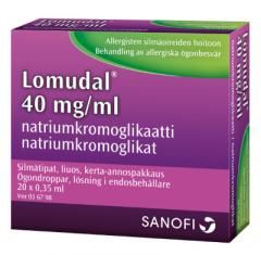 LOMUDAL 40 mg/ml silmätipat, liuos, kerta-annospakkaus 20x0,35 ml