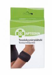 Apteekki tenniskyynärpäätuki (yksi koko) musta X1 kpl