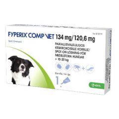 FYPERIX COMP VET 134/120,6 mg paikallisvaleluliuos (keskikokoisille koirille)1,34 ml